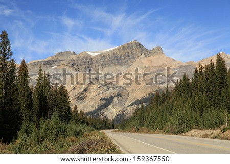 One of the Many Beautiful Mountains as Seen From the Icefield Parkway  - stock photo