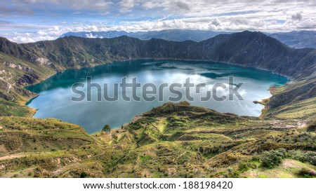 One of the most beautiful places of Ecuador - stock photo