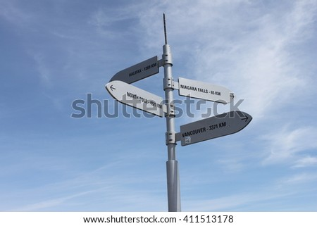 One of the posts at Center Island Toronto - stock photo
