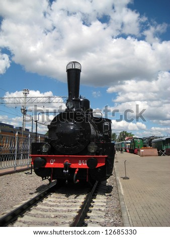 One of the steam locomotives in Moscow museum of railway
