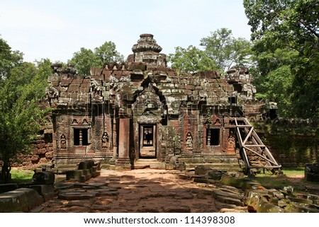 One of the temples in the Angkor Wat region. Cambodia