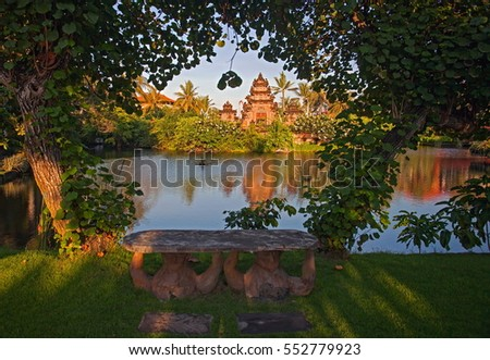 One Thousands Temples Baliindonesia Located Hotel Stock Photo - Where is bali located