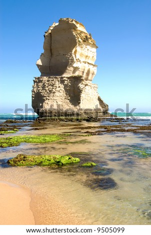One of the Twelve Apostles - a series of limestone stacks on the shoreline in Southern Victoria, is one of Australia's premier tourist attractions