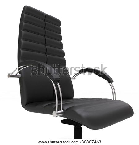 One office chair isolated on white background