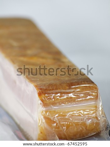 one packed pork bacon food - stock photo