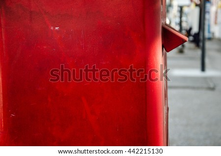 one part of red post box set against a de-focused thailand - stock photo