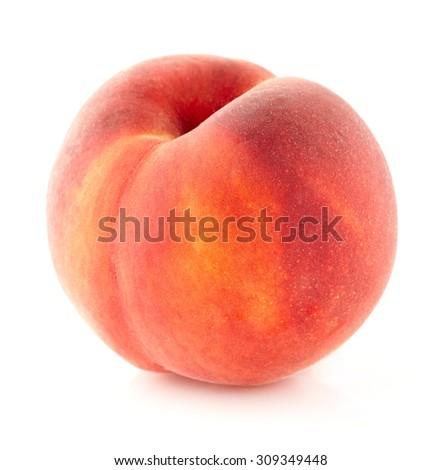 One peach - stock photo
