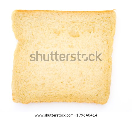 one piece of bread on white