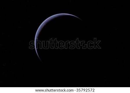 one planet in deep space3 - stock photo