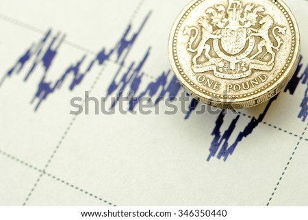 One pound/graph - stock photo