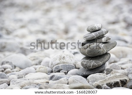 one rock stack - close up