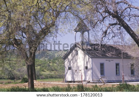 One room schoolhouse, Canon, Northern CA