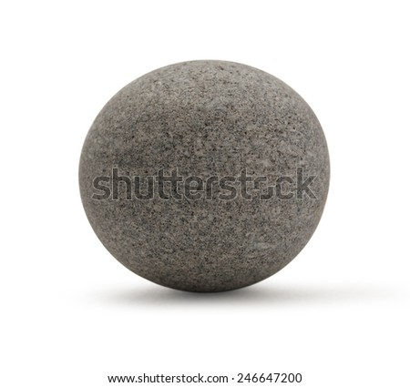 One sea stone on the white background