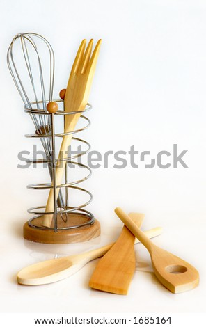 One set of kitchen cookware. - stock photo