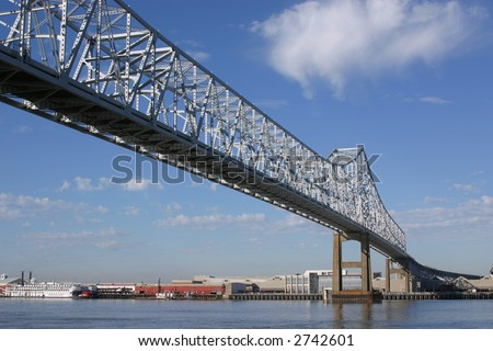 One span of the Crescent City Connection bridges in New Orleans.