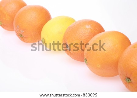 one stands out of the row - stock photo