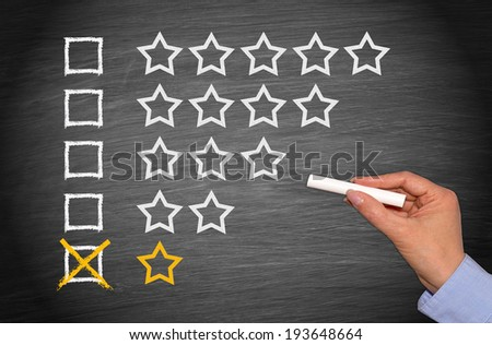 One Star only - Low Performance - stock photo