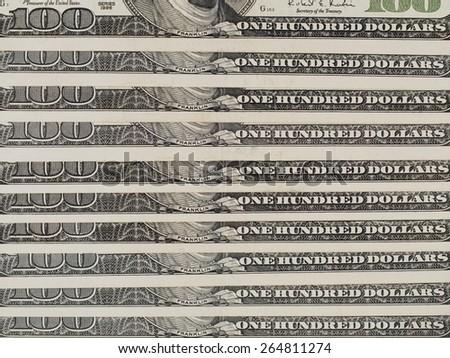 One thousand us dollar bills background, 1000 usd, united states money - stock photo