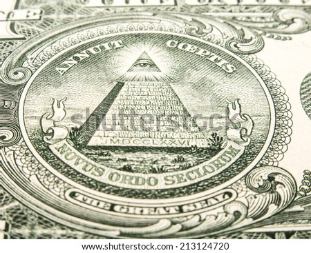One US dollar note detail - stock photo