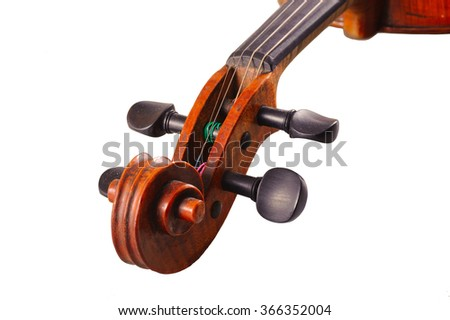 one violin on the white background