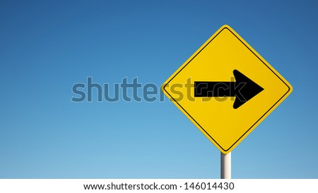 One Way Sign with Clipping Path  - stock photo