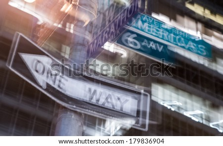One way signal - stock photo