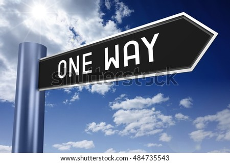 One way signpost