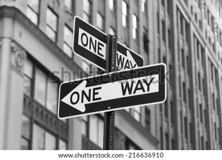 One Way Signs - stock photo
