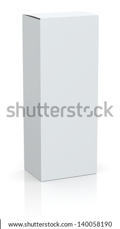 one white box with empty space for custom text or image (3d render) - stock photo