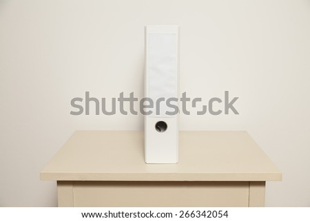 One white folder - stock photo
