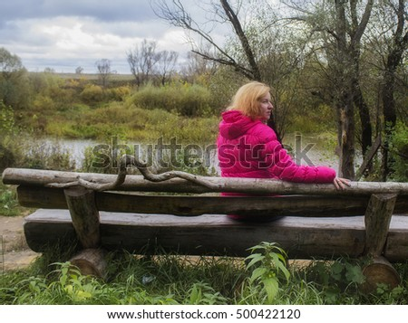 One woman on the bench
