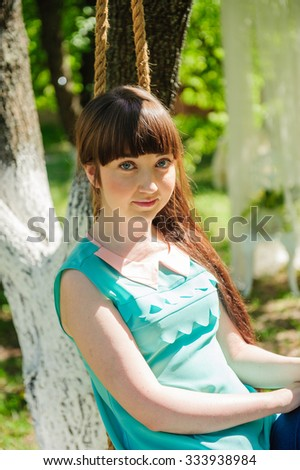 one young girl in the park