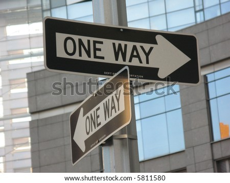 Oneway signs in town