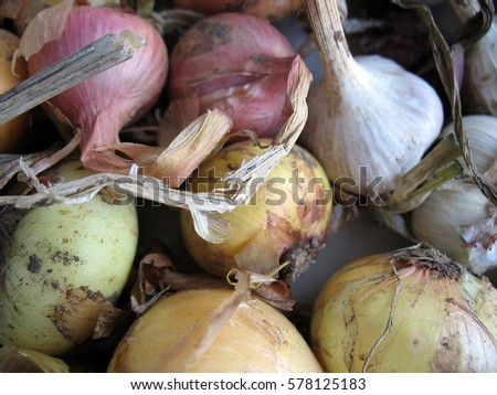 Onion and garlic.