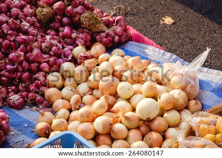 Onion and Red onion