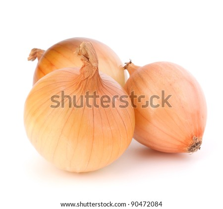 Onion  isolated on white background - stock photo