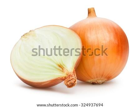onions isolated - stock photo