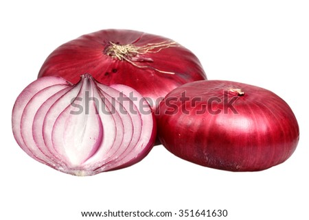 Onions it is isolated on a white background