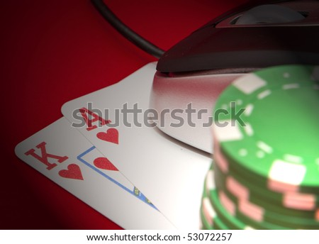 Online Ace and King - stock photo
