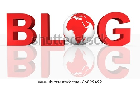 Online Blog Concept - stock photo