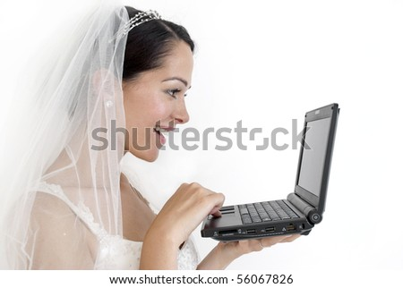 Online bride - stock photo