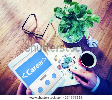 Online Business Career Occupation Office Working Concept - stock photo