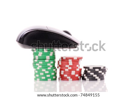 Online Casino Gambling Games - stock photo