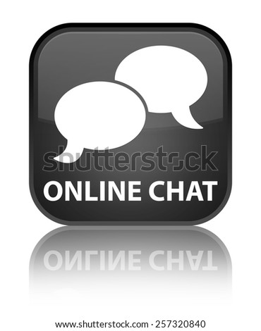 Online chat black square button