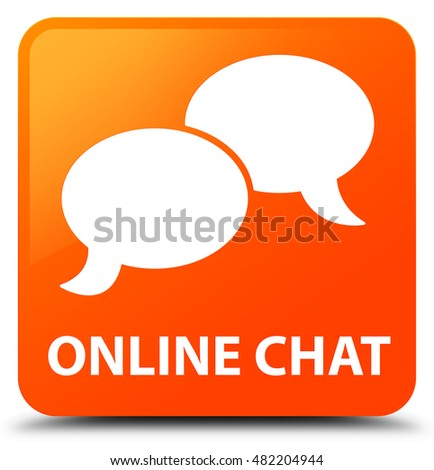Social media chat bubble icon brown stock illustration - Chat orange ...