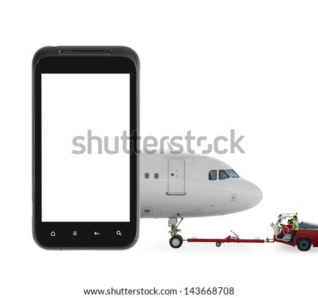 Online check-in - stock photo
