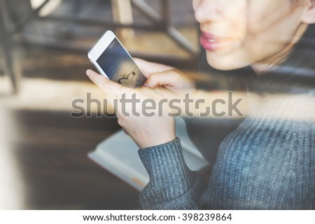 Online Communication Technology Chat Concept - stock photo