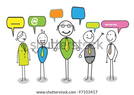 online community - stock photo
