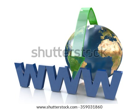 Online Concept By Green arrow Internet address in the design of the information related to the network - stock photo