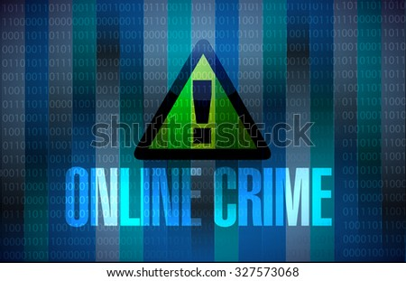 online crime warning binary sign concept illustration design graphic - stock photo